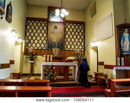 Siedlec, Poland, November 22, 2015 .: Chapel Of The Blessed Soul Of Christ The Lord In Siedlec