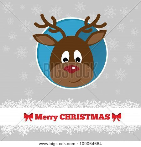 Christmas Card Template With Deer