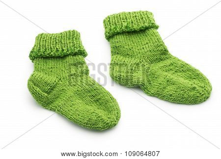 Kid Wool Socks Isolated On White