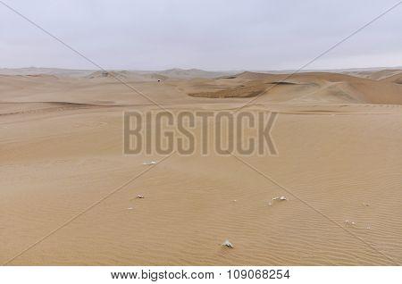 Arid Landscape In The Huacachina Desert, Peru