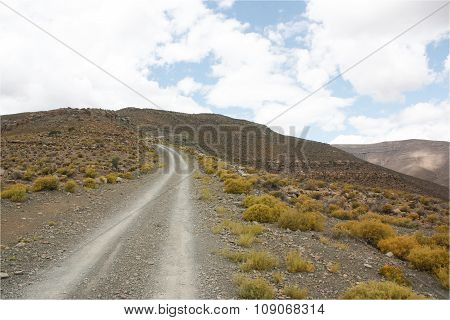 Gravel/Dirt Road up a pass