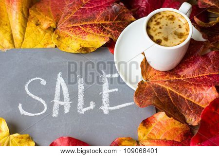 Autumnal Bright Leaves As A Background