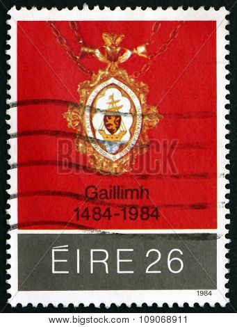Postage Stamp Ireland 1984 Medal Of Mayoral City Of Galway