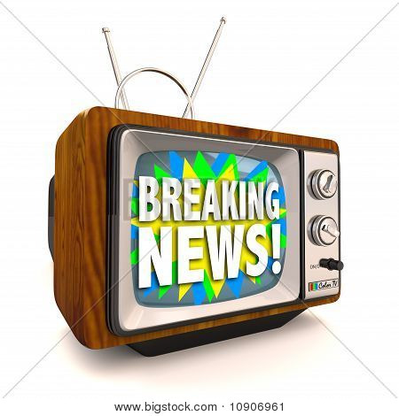 Breaking News - Old Fashioned Television