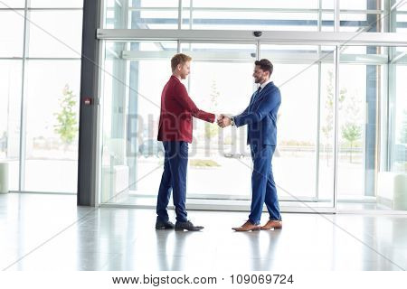 Business greeting of partners