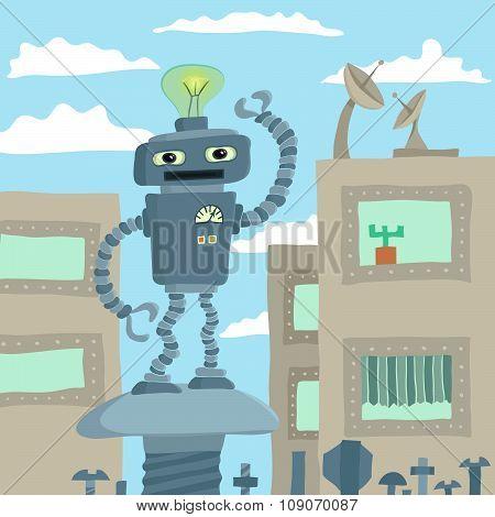 Robot waving arm