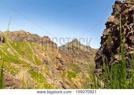 Mountains landscape against the sky, Portugal, Madeira