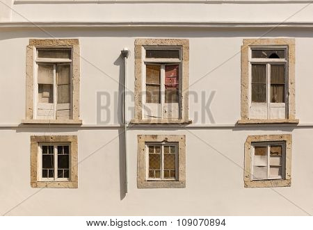View building wall with windows
