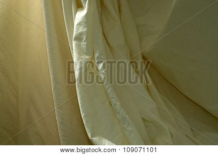 Draped Muslin Background Cloth With Folds