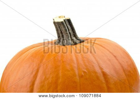 Closeup Cropped Shot Of Orange Pumpkin Isolated On White