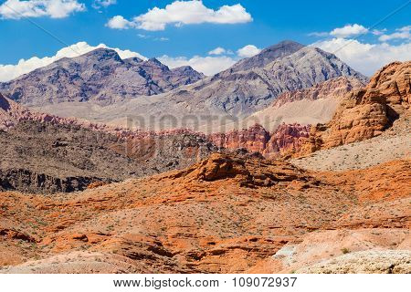 Red Rock Landscape With Blue Sky, Valley Of Fire State Park, Nevada