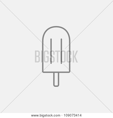 Popsicle line icon for web, mobile and infographics. Vector dark grey icon isolated on light grey background.