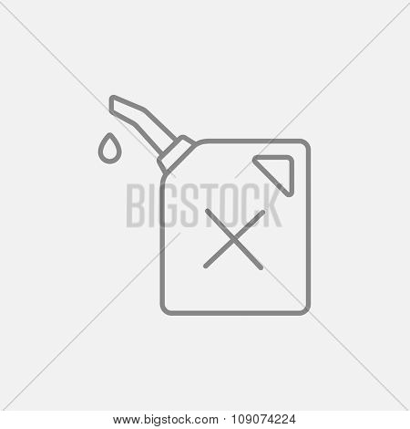 Gas container line icon for web, mobile and infographics. Vector dark grey icon isolated on light grey background.