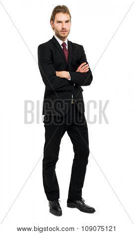 Handsome businessman full length portrait