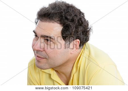 Middle-aged Man Listening To Something Carefully