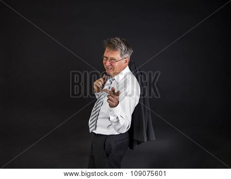 Handsome Businessman On White Background