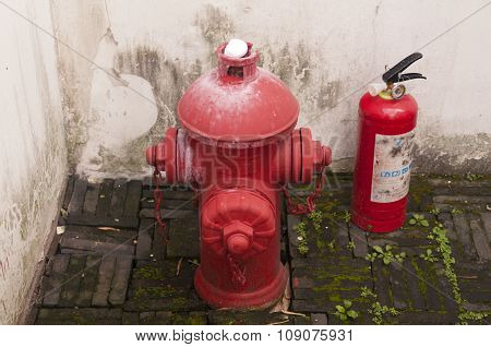 Fire Hydrant And Extinguisher