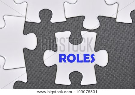 The White Jigsaw Puzzle Written Word Roles