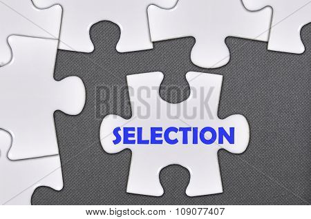 The White Jigsaw Puzzle Written Word Selection