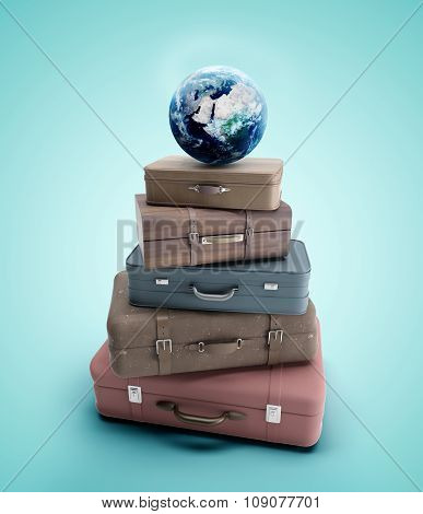 Travel Bags And Earth