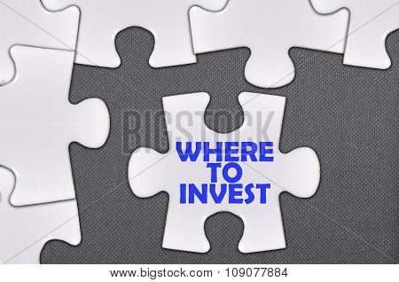 Jigsaw Puzzle Written Word Where To Invest
