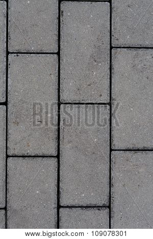 detail of interlocking concrete pavement - textured