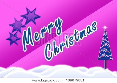 Bright violet background with christmas holiday text