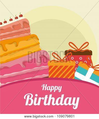 Happy birthday colorful card