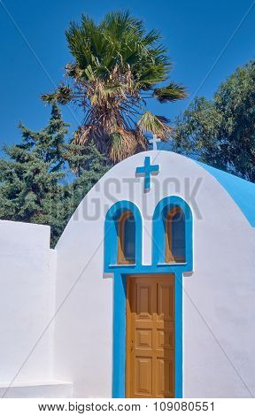 Entrance to the Orthodox chapel on the island of Kos