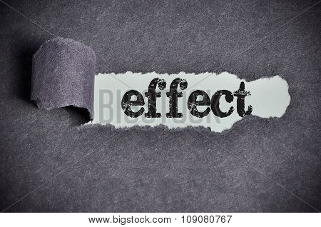 Effect Word Under Torn Black Sugar Paper