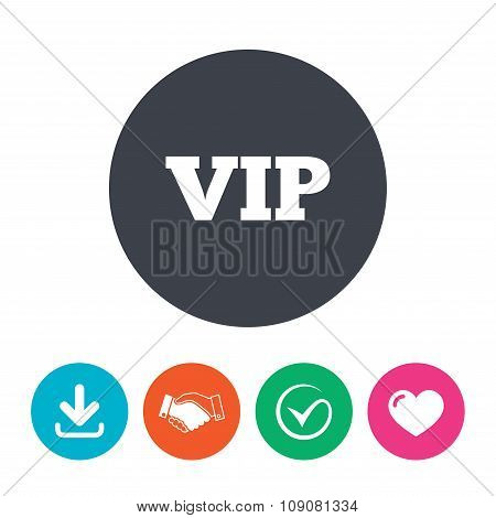 Vip sign icon. Membership symbol.
