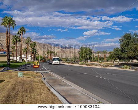View along highway 111 , Palm Springs