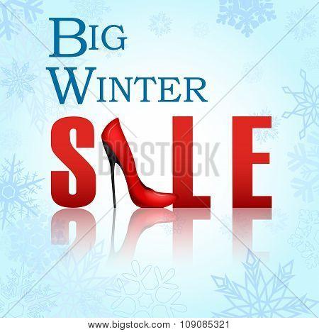Banner big winter sale