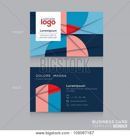 Abstract circle and square shape pattern background Business Cards Design Template