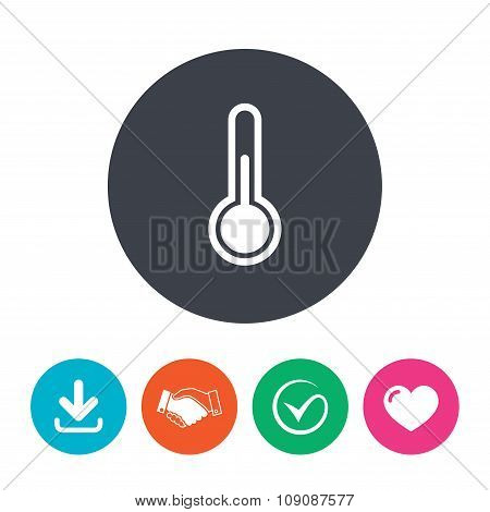 Thermometer sign icon. Temperature symbol.