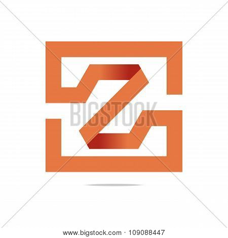Logo full symbolhexa orange icon vector