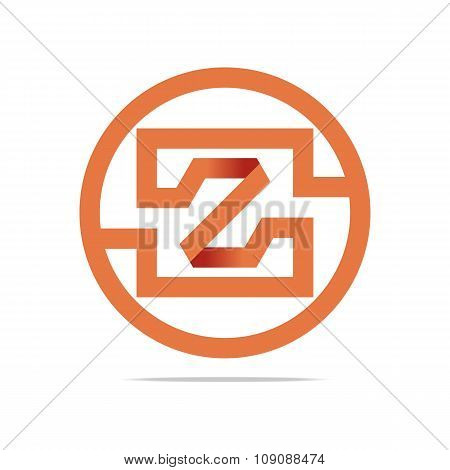 Logo full symbolhexa orange circle icon vector