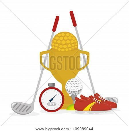 Golf club sport game graphic