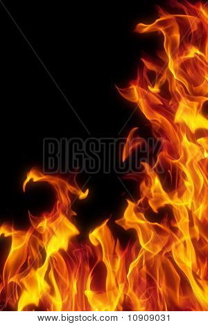 Flame Isolated Over Black Background