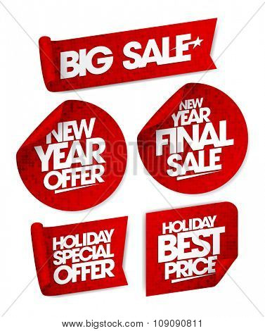 Massive winter sale design with shopping bag on a blue rays backdrop.