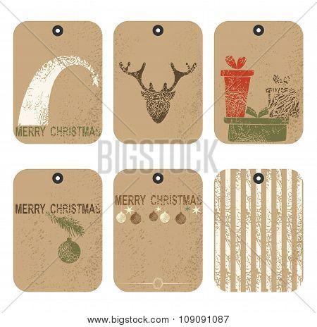 Christmas tags set.
