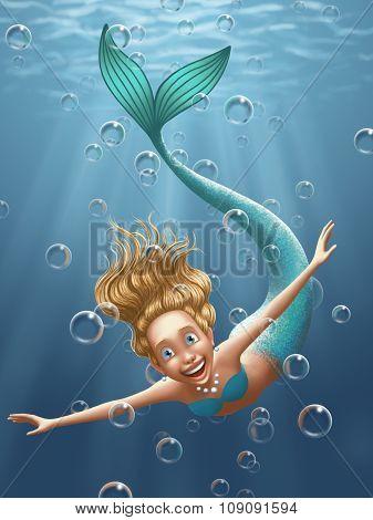 Illustration - Mermaid