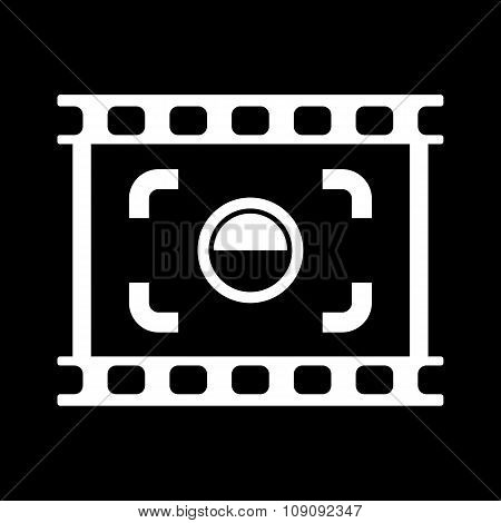 The viewfinder icon. Focusing and photography, photo symbol. Flat