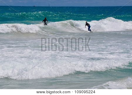 Scarborough Beach Surfing Action, Western Australia