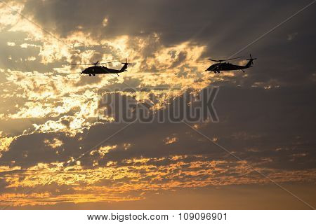 Marine Helicopters Near Mirimar Mcas