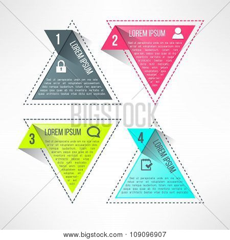 Vector bright infographic template in modern flat design suitable for business presentations and rep