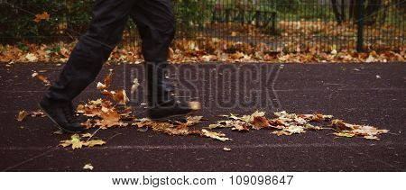 Mature Male Athlete running outdoor