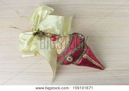 Red Christmas ornament 5