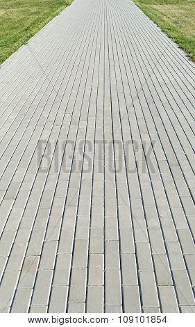 Footpath (sidewalk, Road) Of Rectangular Concrete Slab