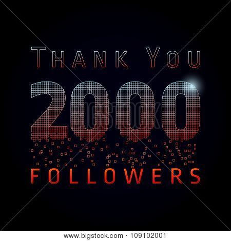 Thank you 2000 followers numbers.